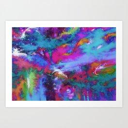 A fluid storm Art Print