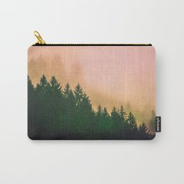 Cascadia Green Trees and Sunset Carry-All Pouch