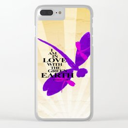 Dragonflies Green Earth Love Clear iPhone Case