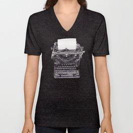 Vintage Remington Standard Typewriter Unisex V-Neck