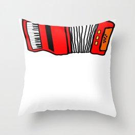 Music Accordian Go For Polk Polka Music Throw Pillow