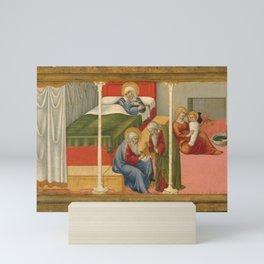 Sano di Pietro - The Birth and Naming of Saint John the Baptist Mini Art Print