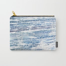Light blue marble Carry-All Pouch