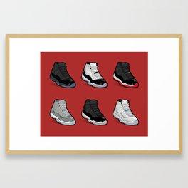 Jordan 11 poster Framed Art Print