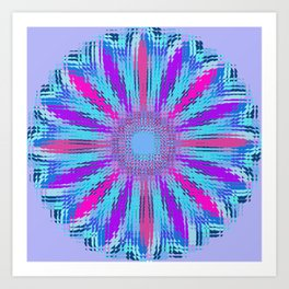 Shifting Spiral Flower Art Print