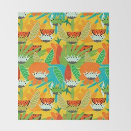 Watermelons and carrots Throw Blanket