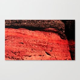 Red Black Stone Canvas Print