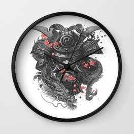 Samurai Warrior Japanese Bushido Knight t-shirt & accessories Wall Clock