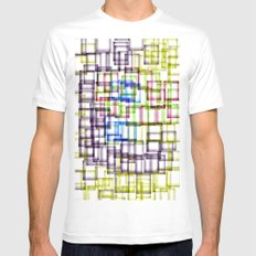Construction Site White MEDIUM Mens Fitted Tee