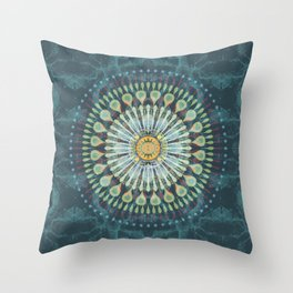 Rivets In Cognition Throw Pillow