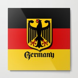Germany Ueber Alles Country Symbol Metal Print