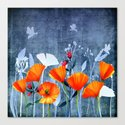Summer night- Shadow of a Poppy meadow- Flowers on #Society6 by originalaufnahme