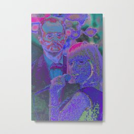 Lost In Translation - Glitch Metal Print