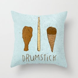 I LIKE DRUMSTICK Throw Pillow