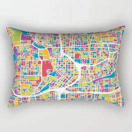 Atlanta Georgia City Map Rectangular Pillow