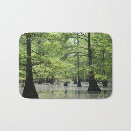 Cypress Trees in the Louisiana Swamp Bath Mat