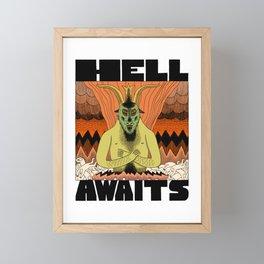 Hell Awaits Framed Mini Art Print