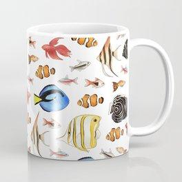 Tropical Fish on White - pattern Coffee Mug