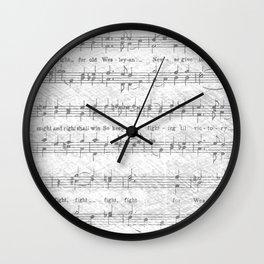 Wesleyan Fight Song Wall Clock