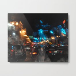 RAINY NIGHTS Metal Print