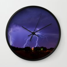 New Mexico Lightning Wall Clock