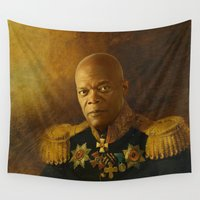 replaceface Wall Tapestries featuring Samuel L. Jackson - replaceface by replaceface