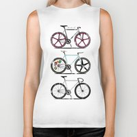 brompton Biker Tanks featuring This Is How I Roll by Wyatt Design