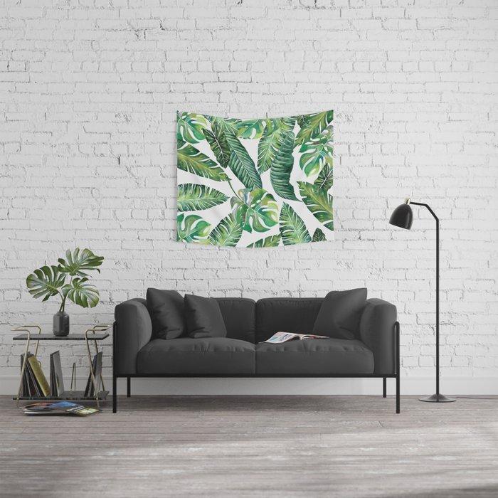 Jungle Leaves, Banana, Monstera #society6 Wall Tapestry