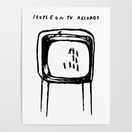PEOPLE ON TV RECORDS Poster