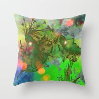 "gemini Throw Pillows featuring "" Gemini "" by shiva camille"