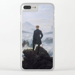 The wanderer above the sea of fog by Caspar David Friedrich Clear iPhone Case