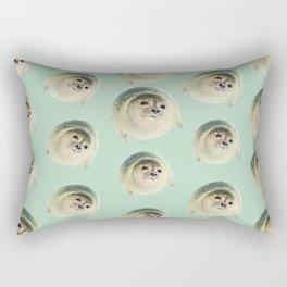 aqua green underwater cute baby sea lion seal Rectangular Pillow