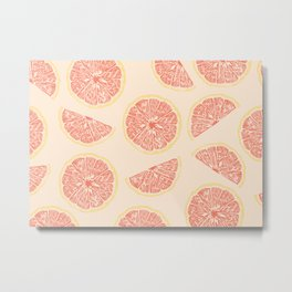 grapefruit and sunny days Metal Print