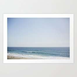 California Beach Day Art Print