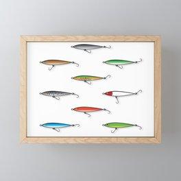 Fishing Plugs Framed Mini Art Print