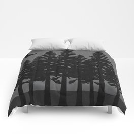 The Moon Over A Dark Dark Forest Comforters