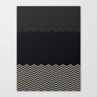 chevron Canvas Prints featuring Chevron by Georgiana Paraschiv