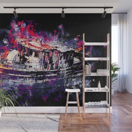 old ship boat wreck ws fn Wall Mural