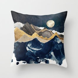 Midnight Winter Throw Pillow