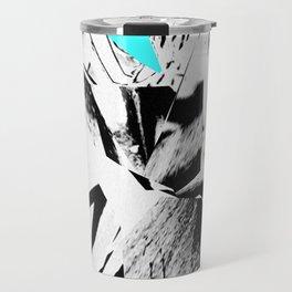 Glitch Scrunch Teal Travel Mug