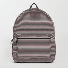Pink and Gray Pin Stripe Backpack