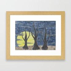 Who Killed Mr. Moonlight Framed Art Print