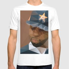 J DILLA Mens Fitted Tee MEDIUM White