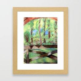 Flash of Scenery Framed Art Print