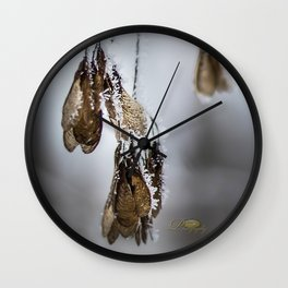 Frost Crytals Wall Clock