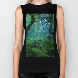 Enchanted forest mood Biker Tank