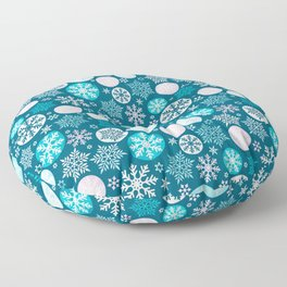 Magical snowflakes IV Floor Pillow