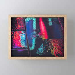 Seoul After Dark / Neon Reflection / Liam Wong Framed Mini Art Print