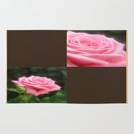 Pink Roses in Anzures 3 Blank Q3F0 Rug