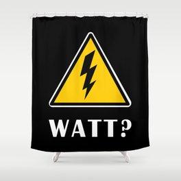 Electrician Watt Shower Curtain